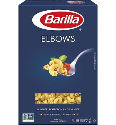 Purchase Barilla Pasta, Elbows, 16 Ounce (Pack of 8) at Amazon.com