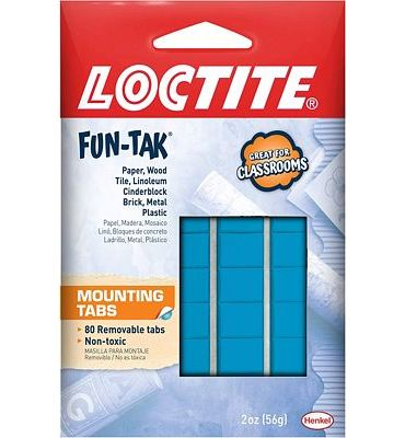 Purchase Loctite Home and Office 2-ounce Pack Fun-tak Mounting Putty Tabs at Amazon.com