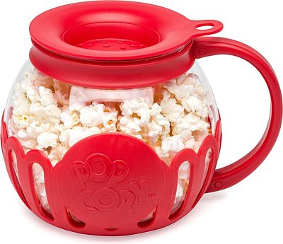 Purchase Microwave Micro-Pop Popcorn Popper, 3-in-1 Silicone Lid, Dishwasher Safe, 1.5 Quart Snack Size at Amazon.com