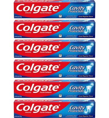 Purchase Colgate Cavity Protection Toothpaste with Fluoride - 6 ounce (6 Pack) at Amazon.com