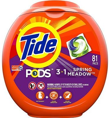 Purchase Tide PODS 3 in 1 HE Turbo Laundry Detergent Pacs, Spring Meadow Scent, 81 Count Tub - at Amazon.com
