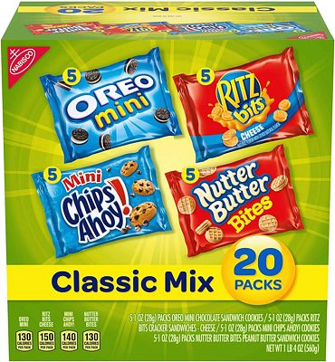 Purchase Nabisco Classic Mix Variety Pack with Cookies & Crackers, 20 Count Box, 20 Ounce (Pack of 20) at Amazon.com