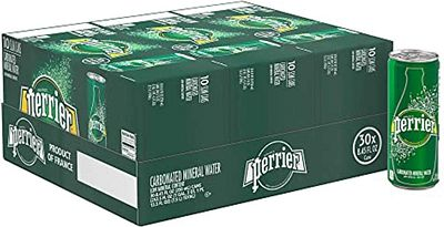 Purchase Perrier Sparkling Mineral Water, 8.45 fl oz. Slim Cans (Pack of 30) at Amazon.com
