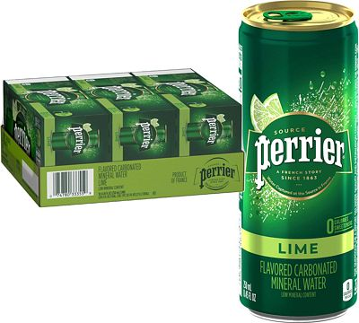 Purchase Perrier Lime Flavored Carbonated Mineral Water, 8.45 Fl Oz (30 Pack) Slim Cans at Amazon.com