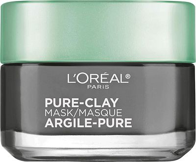 Purchase L'Oral Paris Skincare Pure-Clay Face Mask with Charcoal for Dull Skin to Detox & Brighten Skin, 1.7 oz. at Amazon.com