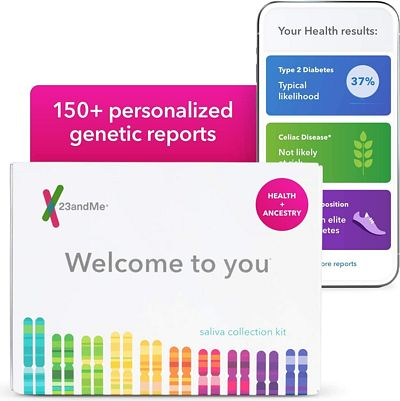 Purchase 23andMe DNA Test - Health + Ancestry Personal Genetic Service - includes 125+ reports on Health, Wellness, Ancestry & More at Amazon.com