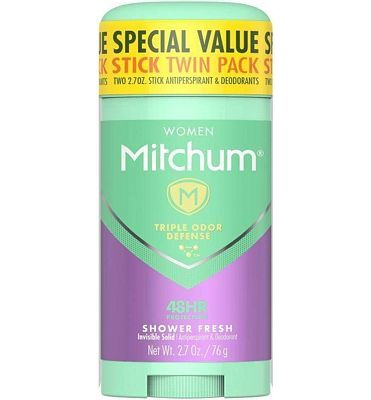 Purchase Mitchum Women Invisible Solid Antiperspirant Deodorant Twin Pack, Shower Fresh, 2.7oz at Amazon.com