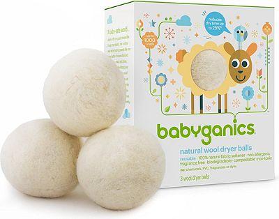 Purchase Babyganics Natural Wool Laundry Dryer Balls at Amazon.com
