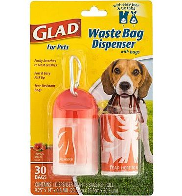 Purchase Glad For Pets Waste Bags And Dispensers, Scented and Unscented Waste Bags Available at Amazon.com