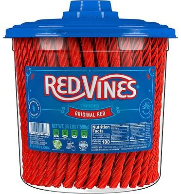 Purchase Red Vines Licorice, Original Red Flavor, Soft & Chewy Candy Twists, 56.01 Oz at Amazon.com