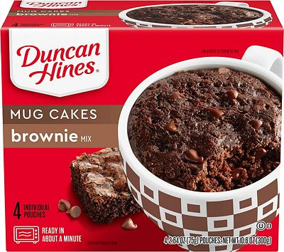 Purchase Duncan Hines Perfect Size for 1 Brownie Mix, Ready in About a Minute, Chocolate Brownie, 4 Individual Pouches, 2.64 Ounce (Pack of 4) at Amazon.com