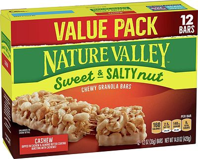Purchase Nature Valley Granola Bars, Sweet & Salty Nut, Cashew, 12 Count at Amazon.com