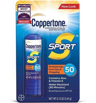 Purchase Coppertone SPORT Sunscreen Lip Balm Broad Spectrum SPF 50 (0.13 Ounce) at Amazon.com