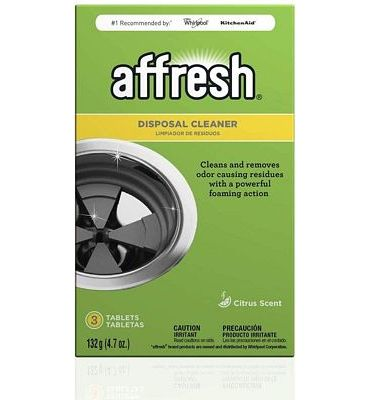 Purchase Affresh Garbage Disposal Cleaner, Removes Odor Causing Residues, U.S. EPA Safer Choice Certified, 3 Tablets at Amazon.com