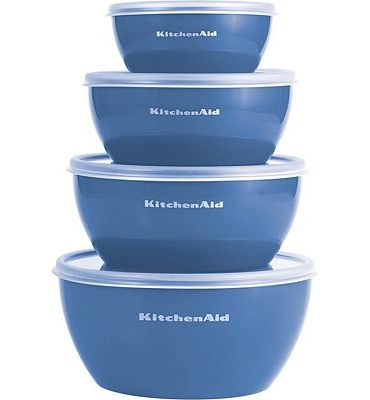 Purchase Kitchenaid Prep Bowls with Lids, Set of 4, Ocean Blue at Amazon.com