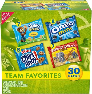 Purchase Nabisco Team Favorites Mix - Variety Pack with Cookies & Crackers, 30 Count Box, 30 oz at Amazon.com
