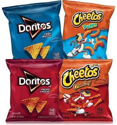 Purchase Frito-Lay Doritos & Cheetos Mix Variety Pack, 40 Count at Amazon.com