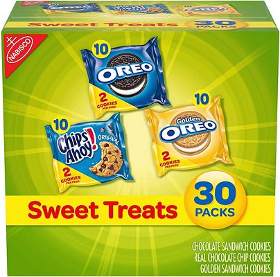 Purchase Nabisco Cookies Sweet Treats Variety Pack Cookies - with Oreo, Chips Ahoy, & Golden Oreo - 30 Snack Packs at Amazon.com