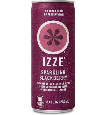 Purchase IZZE Sparkling Juice, Blackberry, 8.4 oz Cans, 12 Count at Amazon.com