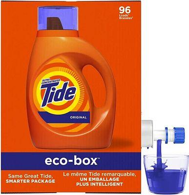 Purchase Tide Laundry Detergent Liquid Eco-Box, Concentrated, Original Scent, 105 oz, HE Compatible, 96 Loads at Amazon.com