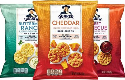 Purchase Quaker Popped Rice Crisps, 3 Flavor Savory Variety Pack, 0.67oz Bags (30 Pack) at Amazon.com