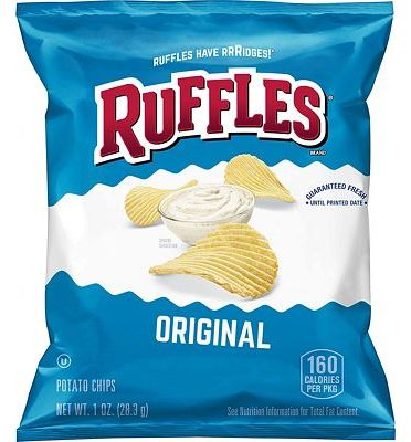 Purchase Ruffles Original Potato Chips, 1 Ounce (Pack of 40) at Amazon.com