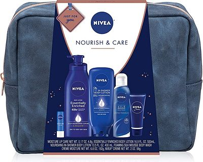Purchase NIVEA Pamper Time Gift Set - 5 Piece Luxury Collection of Moisturizing Products and Travel Bag Included at Amazon.com