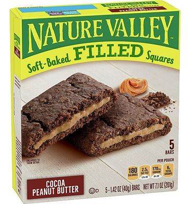 Purchase Nature Valley Soft Baked Filled Squares Cocoa Peanut Butter at Amazon.com