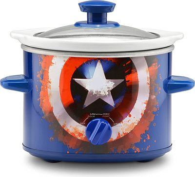 Purchase Marvel Captain America Shield 2-Quart Slow Cooker at Amazon.com