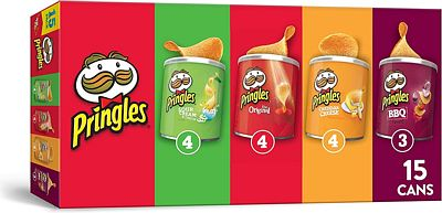 Purchase Pringles Potato Crisps Chips, Flavored Variety Pack, 15 Count, 20.6oz at Amazon.com