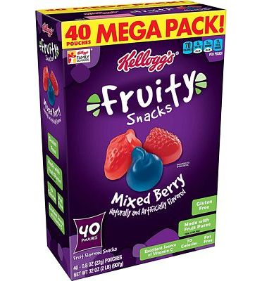 Purchase Fruity Snacks, Mixed Berry, Gluten Free, Fat Free, 32 Oz (40 Pouches) at Amazon.com