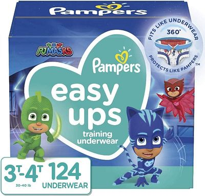 Purchase Pampers Easy Ups Training Underwear Boys Size 5 3T-4T 124 Count at Amazon.com
