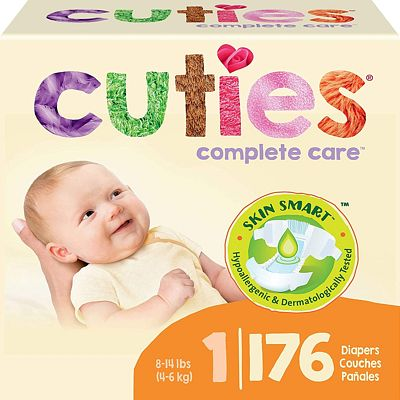 Purchase Cuties Complete Care Baby Diapers - Size 1 (176 Count) at Amazon.com