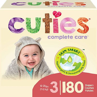 Purchase Cuties Complete Care Baby Diapers - Size 3 (180 Count) at Amazon.com