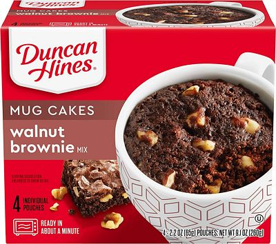 Purchase Duncan Hines Mug Cakes Walnut Brownie Mix, 4 - 2.2 OZ Pouches at Amazon.com