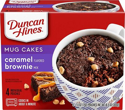 Purchase Duncan Hines Perfect Size for 1 Brownie Mix, Ready in About a Minute, Caramel Brownie, 4 Individual Pouches, 2.6 Ounce (Pack of 4) at Amazon.com