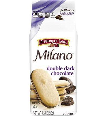 Purchase Pepperidge Farm, Milano, Cookies, Double Dark Chocolate, 7.5 oz, Bag, 3-count at Amazon.com