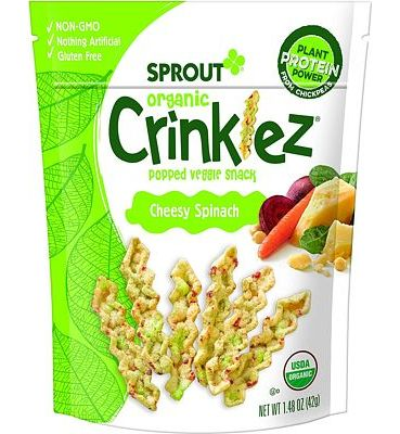 Purchase Sprout Organic Crinklez Toddler Snacks, Cheesy Spinach, 1.48 Ounce Bag (Single) at Amazon.com