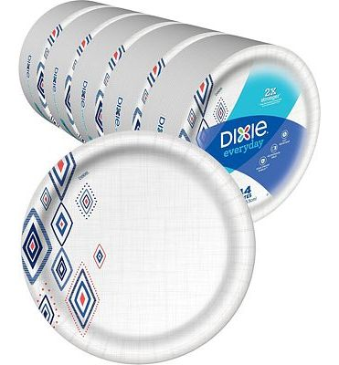 Purchase Dixie Everyday Paper Plates, 220 Count, Amazon Exclusive Design, 5 Packs of 44 Plates at Amazon.com