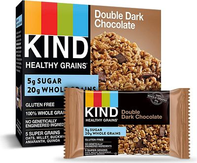 Purchase KIND Healthy Grains Granola Bars, Double Dark Chocolate, Gluten Free, 1.2 oz, 40 Count at Amazon.com