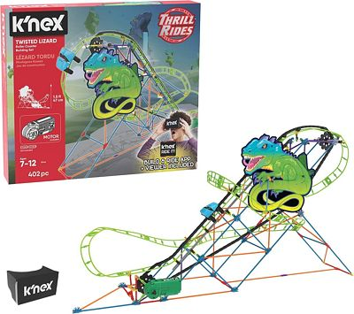 Purchase K'NEX Thrill Rides ? Twisted Lizard Roller Coaster Building Set with Ride It! App ? 402 Piece ? Ages 7+ Building Set (Amazon Exclusive) at Amazon.com
