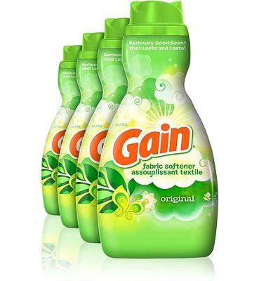 Purchase Gain Liquid Fabric Softener, Original, 41 fl oz, 4 Count at Amazon.com