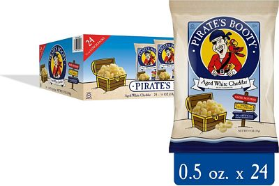 Purchase Pirate's Booty Cheese Puffs, Healthy Kids Snacks, Real Aged White Cheddar, (Pack of 24 Bags) at Amazon.com