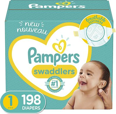 Purchase Pampers Swaddlers Size 1 (8-14 lb), 198 Count, Disposable Diapers, ONE MONTH SUPPLY at Amazon.com
