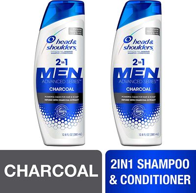 Purchase Head and Shoulders Shampoo and Conditioner 2 in 1, Anti Dandruff Treatment, Charcoal for Men, 12.8 fl oz, Twin Pack at Amazon.com
