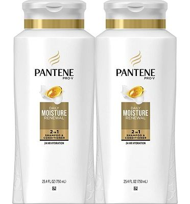 Purchase Pantene, Shampoo and Conditioner 2 in 1, Pro-V Daily Moisture Renewal for Dry Hair, 25.4 fl oz, Twin Pack at Amazon.com