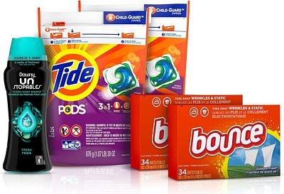 Purchase Tide Pods Laundry Detergent Pacs (2x35ct), Downy Unstopable Scent Beads (14.8 oz) and Bounce Dryer Sheets (2x34ct), Better Together Bundle at Amazon.com