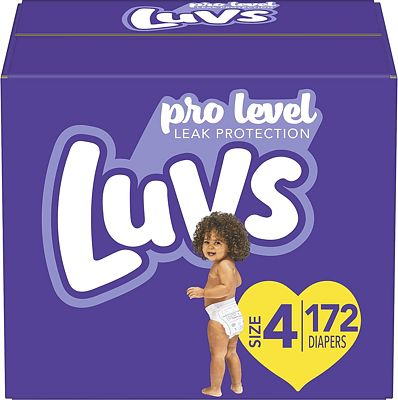 Purchase Diapers Size 4, 172 Count - Luvs Ultra Leakguards Disposable Baby Diapers, ONE MONTH SUPPLY at Amazon.com