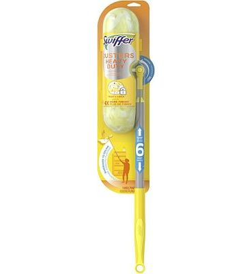 Purchase Swiffer Dusters Heavy Duty Super Extender Handle Starter Kit, Yellow at Amazon.com