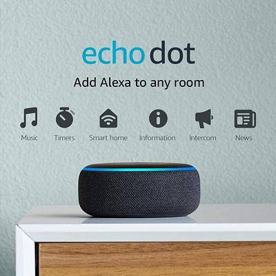 Purchase Echo Dot (3rd Gen) - Smart speaker with Alexa - Charcoal at Amazon.com
